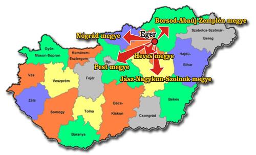 észak kelet magyarország térkép Nyerges Kft. Eger   Hűtött élelmiszerek nagykereskedelme észak kelet magyarország térkép